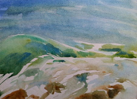 image, seascape, water color